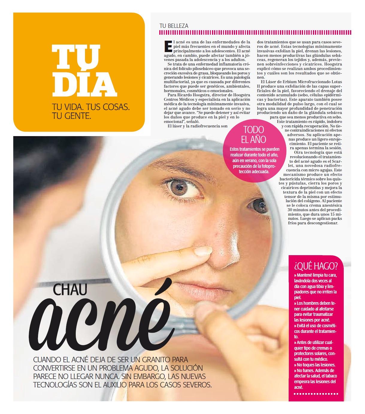 Au revoir l'acné
