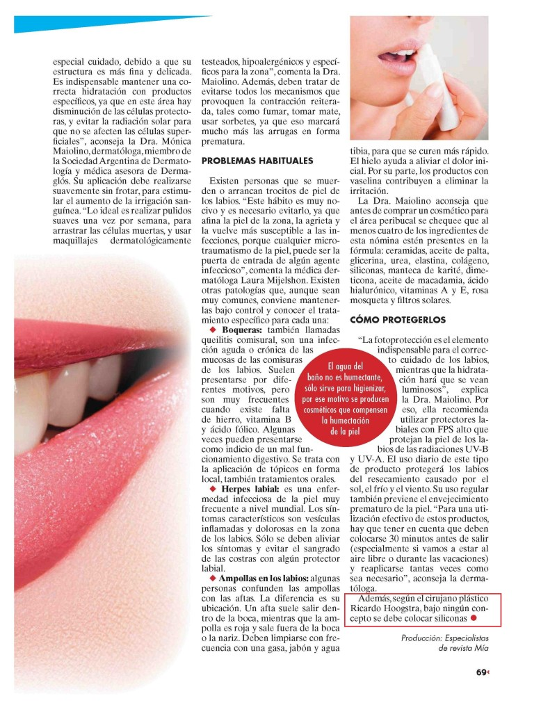 Five rules for lip filling